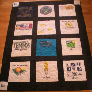 High School Tennis Tshirt Quilt