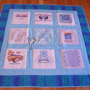 Ice Skating Memory Quilt