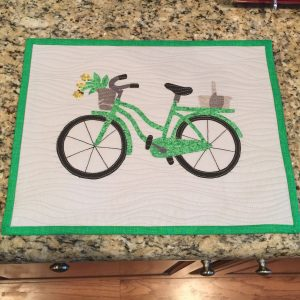 Bicycle Mini Quilt