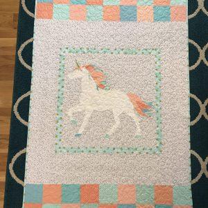 Unicorn Baby Quilt