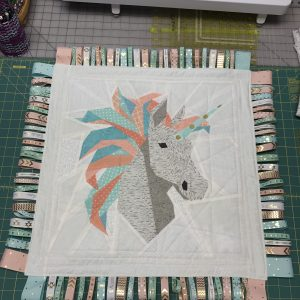 Unicorn Baby Tag Quilt